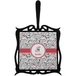 Dalmation Trivet with Handle (Personalized)