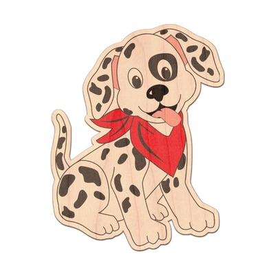 Dalmation Genuine Maple or Cherry Wood Sticker (Personalized)