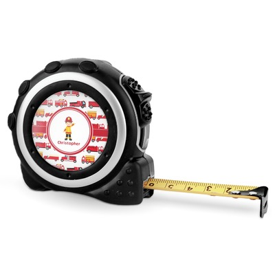Firetrucks Tape Measure - 16 Ft (Personalized)