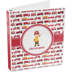 Firetrucks 3-Ring Binder (Personalized)
