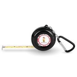 Firetrucks Pocket Tape Measure - 6 Ft w/ Carabiner Clip (Personalized)