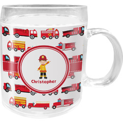 Firetrucks Acrylic Kids Mug (Personalized)