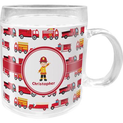 Firetrucks Acrylic Kids Mug (Personalized)