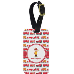 Firetrucks Aluminum Luggage Tag (Personalized)