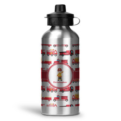 Firetrucks Water Bottle - Aluminum - 20 oz (Personalized)