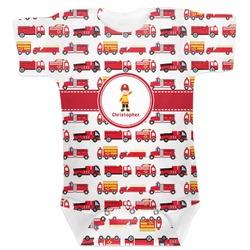 Firetrucks Baby Bodysuit (Personalized)