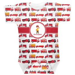 Firetrucks Baby Bodysuit (Personalized)