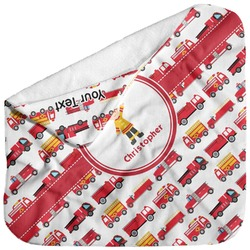 Firetrucks Baby Hooded Towel (Personalized)