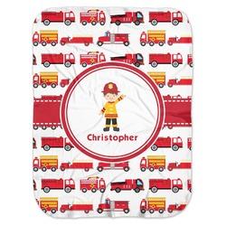 Firetrucks Baby Swaddling Blanket (Personalized)