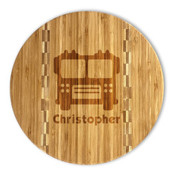 Firetrucks Bamboo Cutting Board (Personalized)