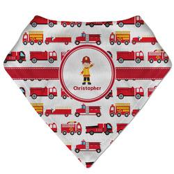 Firetrucks Bandana Bib (Personalized)