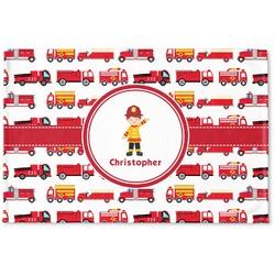 Firetrucks Woven Mat (Personalized)