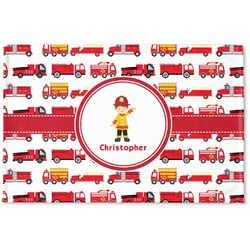 Firetrucks Woven Mat (Personalized)