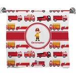 Firetrucks Full Print Bath Towel (Personalized)