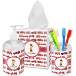Firetrucks Bathroom Accessories Set (Personalized)