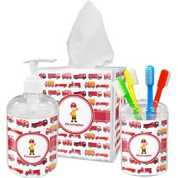 Firetrucks Bathroom Accessories Set (Personalized)