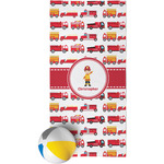 Firetrucks Beach Towel (Personalized)