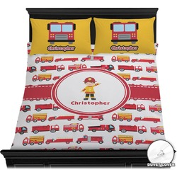 Firetrucks Duvet Cover Set (Personalized)