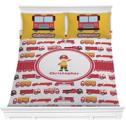 Firetrucks Comforter Set (Personalized)