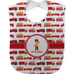 Firetrucks Baby Bib (Personalized)