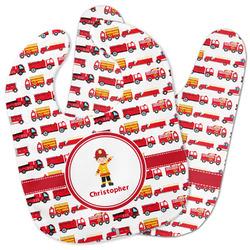 Firetrucks Baby Bib w/ Name or Text