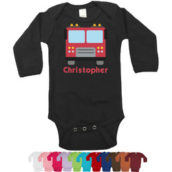 Firetrucks Long Sleeves Bodysuit - 12 Colors (Personalized)