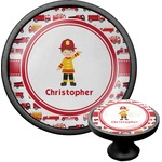 Firetrucks Cabinet Knob (Black) (Personalized)
