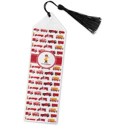 Firetrucks Book Mark w/Tassel (Personalized)