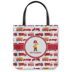 Firetrucks Canvas Tote Bag (Personalized)