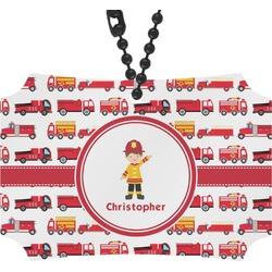Firetrucks Rear View Mirror Ornament (Personalized)