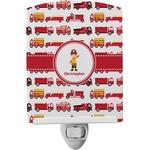 Firetrucks Ceramic Night Light (Personalized)