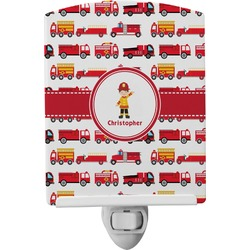 Firetrucks Ceramic Night Light (Personalized)