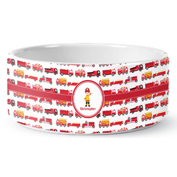 Firetrucks Pet Bowl (Personalized)
