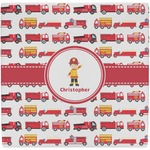 Firetrucks Ceramic Tile Hot Pad (Personalized)