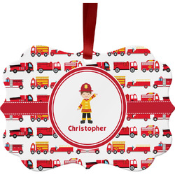 Firetrucks Ornament (Personalized)