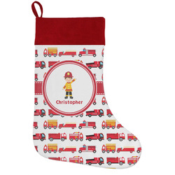 Firetrucks Holiday / Christmas Stocking (Personalized)