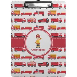 Firetrucks Clipboard (Personalized)