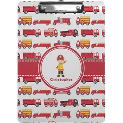 Firetrucks Clipboard (Personalized)