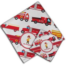 Firetrucks Cloth Napkin w/ Name or Text