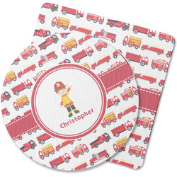 Firetrucks Rubber Backed Coaster (Personalized)