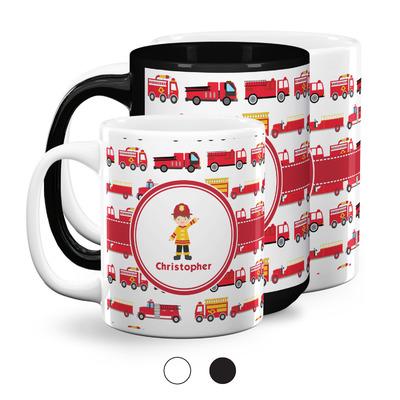 Firetrucks Coffee Mugs (Personalized)