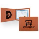 Firetrucks Leatherette Certificate Holder (Personalized)
