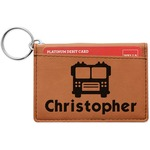 Firetrucks Leatherette Keychain ID Holder (Personalized)