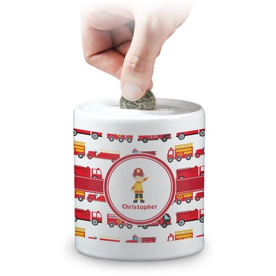 Firetrucks Coin Bank (Personalized)