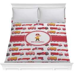 Firetrucks Comforter (Personalized)