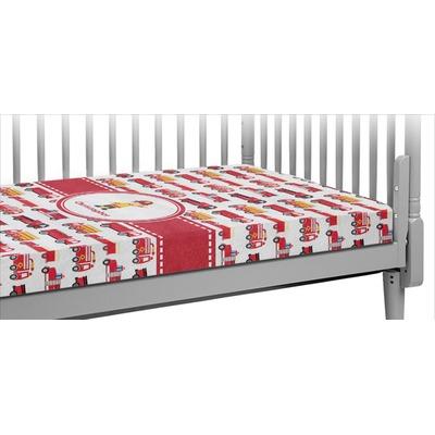 Firetrucks Crib Fitted Sheet (Personalized)