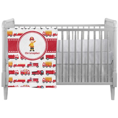 Firetrucks Crib Comforter / Quilt (Personalized)