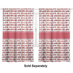 "Firetrucks Curtains - 20""x63"" Panels - Unlined (2 Panels Per Set) (Personalized)"