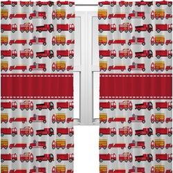 Firetrucks Curtains (2 Panels Per Set) (Personalized)
