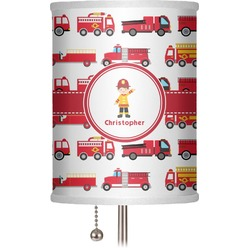 "Firetrucks 7"" Drum Lamp Shade (Personalized)"
